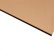 Flexline Laser Laminate High Gloss Copper Surface, Black Base