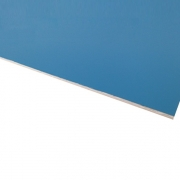 Micro Laminate Matt Light Blue Surface, White Base