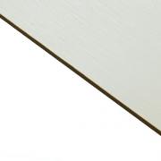 Brushed (Satin) Laminate White Surface, Black Base
