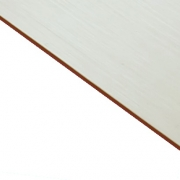 Brushed (Satin) Laminate White Surface, Red Base
