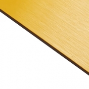 Brushed (Satin) Laminate Yellow Surface, Black Base