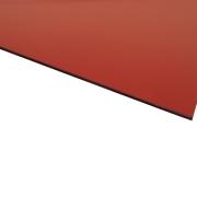 Micro Laminate Matt Red Surface, Black Base