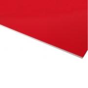 Micro Laminate Matt Red Surface, White Base