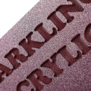 Glitter Pink Acrylic Laser Engraved