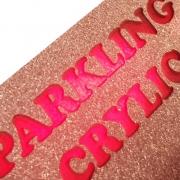 Glitter Pink Acrylic Backlit