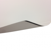 Laserfoil Gloss White Surface, Black Base