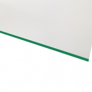 Micro Laminate Matt White Surface, Green Base