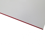 Micro Laminate Matt White Surface, Red Base