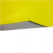 Laserfoil Matt Bright Yellow Surface, Black Base