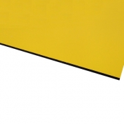 Flexline Laser Laminate Matt Yellow Surface, Black Base