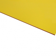 Micro Laminate Matt Yellow Surface, Red Base
