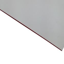 External Laminate Matt White Surface, Red base